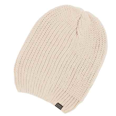 PWDR Room Slouch Beanie (For Men and Women) in Cream - Closeouts
