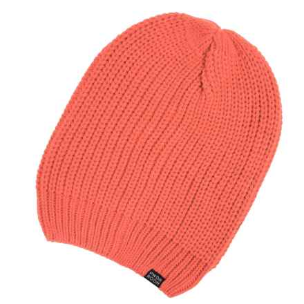 PWDR Room Slouch Beanie (For Men and Women) in Melon - Closeouts
