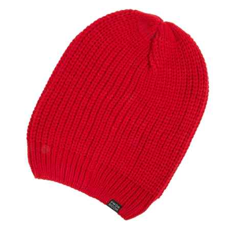 PWDR Room Slouch Beanie (For Men and Women) in Spicy Red - Closeouts