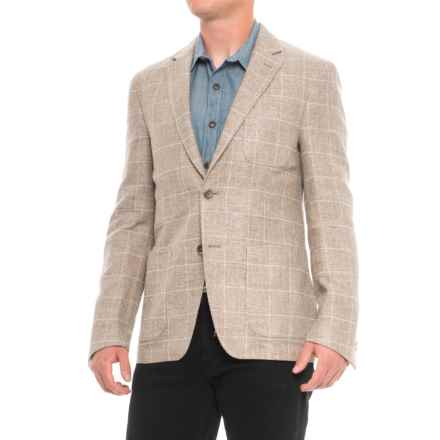 Q by Flynt Draper Sports Coat - Wool-Linen (For Men) in Tan - Closeouts