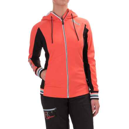 Qloom Bella Coola Cycling Jacket Limited (For Women) in Hot Coral Logo - Closeouts