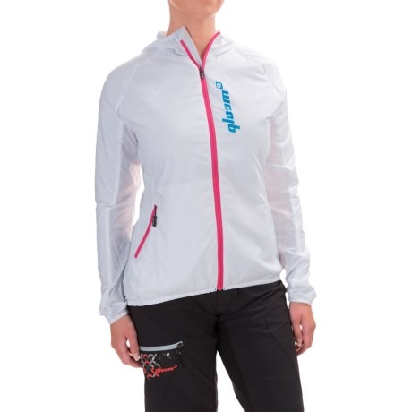 Qloom North Beach Hooded Jacket - Insulated (For Women) in White/Beetroot