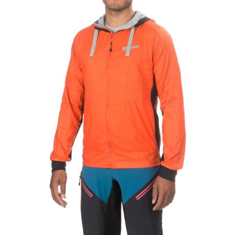 Qloom Palm Beach Cycling Jacket - Full Zip (For Men) in Red