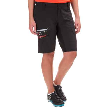 Qloom Seal Rock Biking Shorts - Removable Liner (For Women) in Black - Closeouts