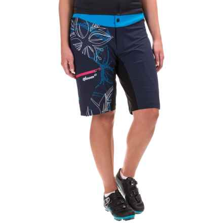 Qloom Sunset Mountain Biking Shorts - Removable Liner Shorts (For Women) in Black Iris - Closeouts