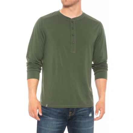 QOR 17.5 Henley Shirt - Merino Wool, Long Sleeve (For Men) in Juniper Green - Closeouts