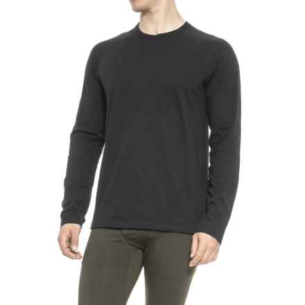 QOR Cotton Base Layer T-Shirt - Long Sleeve (For Men) in Black - Closeouts