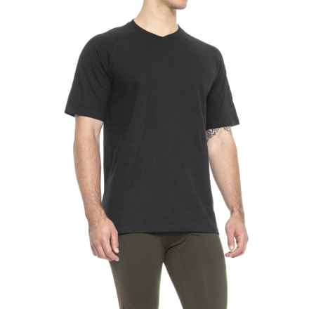 QOR Cotton T-Shirt - Short Sleeve (For Men) in Black - Closeouts