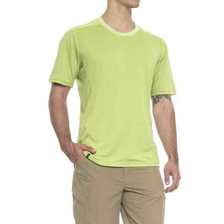 QOR Polartec® Power Dry® T-Shirt - Short Sleeve (For Men) in Green Glow Heather - Closeouts