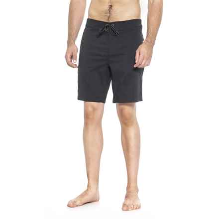 QOR Tec Flyweight Stretch Boardshorts (For Men) in Black - Closeouts