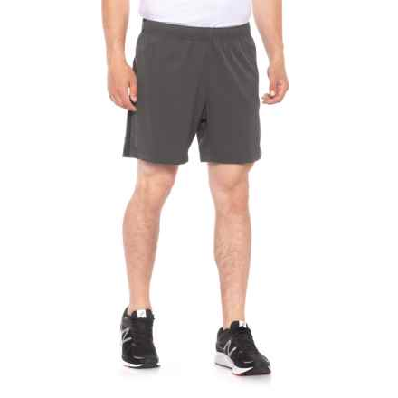 QOR Tec Ultralight Running Shorts - Built-In Brief (For Men) in Gunmetal Grey - Closeouts