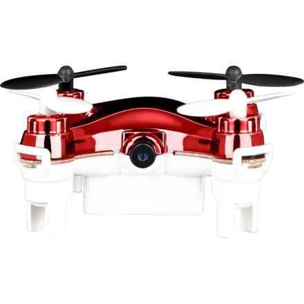 Quadrone Micro-WiFi Drone in Red/White - Closeouts