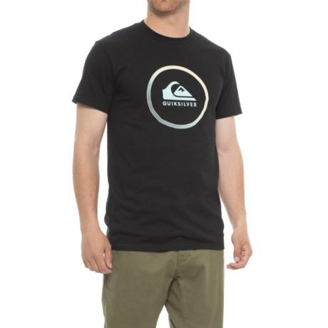 Quiksilver Active Logo T-Shirt - Short Sleeve (For Men) in Black