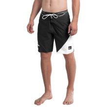 Quiksilver AG47 New Wave Bonded Boardshorts - Recycled Materials (For Men) in Anthracite - Closeouts