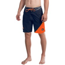 Quiksilver AG47 New Wave Bonded Boardshorts - Recycled Materials (For Men) in Navy Blazer - Closeouts