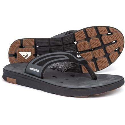 7b71eb8fed3 Quiksilver Amphibian Plus Flip-Flops (For Men) in Black Black Grey