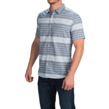 Quiksilver Barath Island Shirt - Short Sleeve (For Men) in Dark Denim - Closeouts