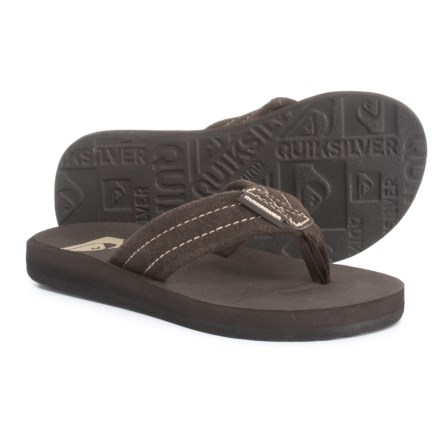 4712e055a Quiksilver Carver Flip-Flops - Suede (For Boys) in Brown - Closeouts