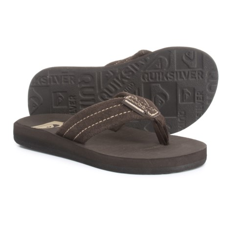 241881ed7ed4 Quiksilver Carver Flip-Flops - Suede (For Boys) in Brown
