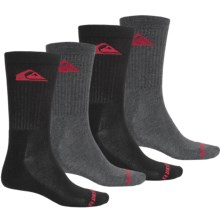 Quiksilver Casual Socks - 4-Pack, Crew (For Men) in Charcoal - Closeouts