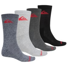 Quiksilver Casual Socks - 4-Pack, Crew (For Men) in Grey - Closeouts