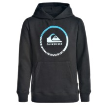 Quiksilver Center Logo Hoodie (For Big Boys) in Black - Closeouts