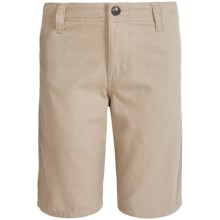 Quiksilver Cotton Canvas Shorts (For Big Boys) in Plaza Taupe - Closeouts