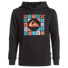 Quiksilver Cubed Hoodie (For Big Boys) in Black - Closeouts