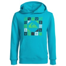 Quiksilver Cubed Hoodie (For Big Boys) in Scuba Blue Heather - Closeouts