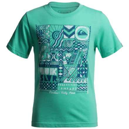 Quiksilver Free Form T-Shirt - Short Sleeve (For Big Boys) in Pool Green Heather - Closeouts