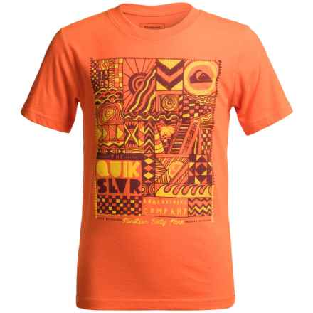 Quiksilver Free Form T-Shirt - Short Sleeve (For Big Boys) in Shocking Orange - Closeouts
