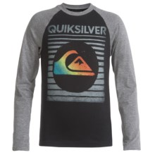 Quiksilver Graphic T-Shirt - Long Sleeve (For Big Boys) in Black - Closeouts