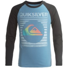 Quiksilver Graphic T-Shirt - Long Sleeve (For Big Boys) in Captains Blue - Closeouts