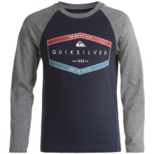 Quiksilver Graphic T-Shirt - Long Sleeve (For Big Boys) in Navy Blazer - Closeouts