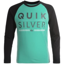 Quiksilver Graphic T-Shirt - Long Sleeve (For Big Boys) in Pool Green - Closeouts