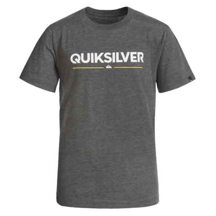 Quiksilver Graphic T-Shirt - Short Sleeve (For Big Boys) in Charcoal Heather - Closeouts