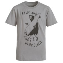 Quiksilver Graphic T-Shirt - Short Sleeve (For Big Boys) in Live And Die - Closeouts