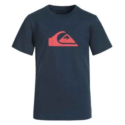 Quiksilver Graphic T-Shirt - Short Sleeve (For Big Boys) in Navy Blazer - Closeouts