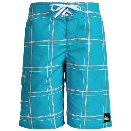 Quiksilver Grid Boardshorts (For Little and Big Boys) in Hawaiian Ocean - Closeouts