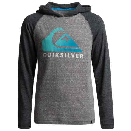 Quiksilver Heatwave Hoodie Shirt - Long Sleeve (For Big Boys) in Medium Grey Heather - Closeouts