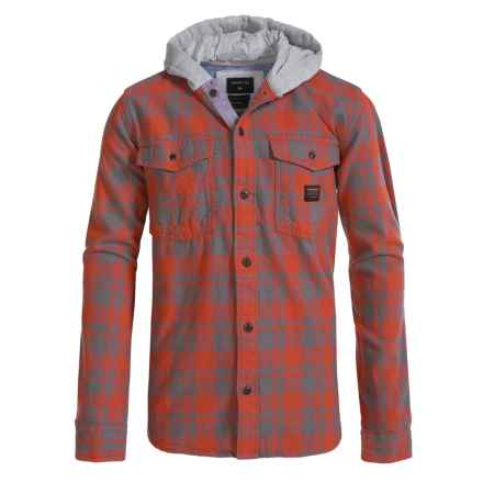 Quiksilver Hooded Flannel Shirt - Long Sleeve (For Big Boys) in Red - Closeouts
