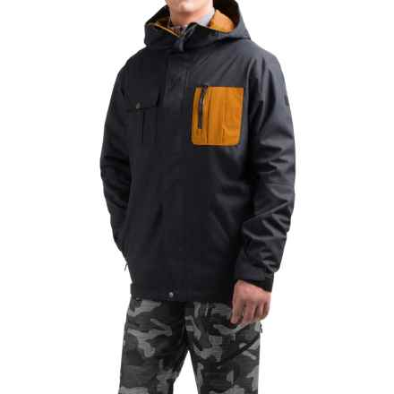 Quiksilver Illusion Shell Snowboard Jacket - Waterproof (For Men) in Black - Closeouts