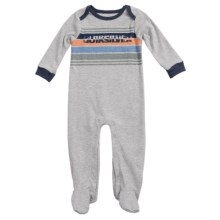 Quiksilver Jersey Sleeper - Long Sleeve (For Infants) in Grey - Closeouts