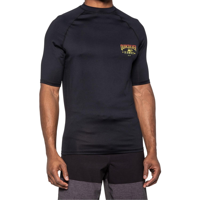Quiksilver Heats on Short Sleeve Boy Rashguard UPF 50 Sun Protection