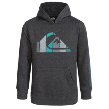 Quiksilver Logo Hoodie (For Big Boys) in Black Heather - Closeouts