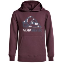 Quiksilver Logo Hoodie (For Big Boys) in Port Royale - Closeouts