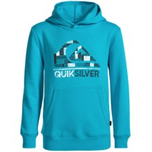 Quiksilver Logo Hoodie (For Big Boys) in Scuba Blue - Closeouts