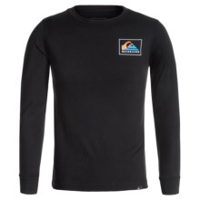 Quiksilver Logo T-Shirt - Long Sleeve (For Big Boys) in Heat Wave Black - Closeouts