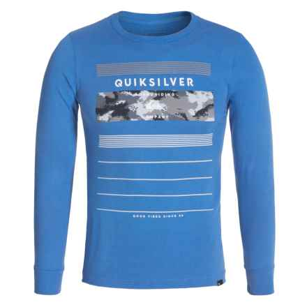 Quiksilver Logo T-Shirt - Long Sleeve (For Big Boys) in Stringer Star Sapphire - Closeouts