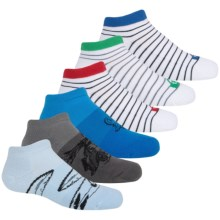 Quiksilver Low-Cut Socks - 6-Pack, Below the Ankle (For Little and Big Boys) in Angel Falls - Closeouts